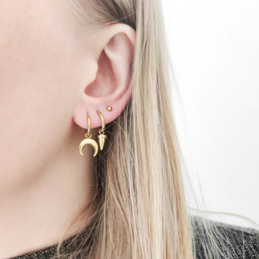 Earrings minimalistic horn