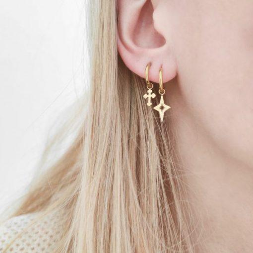 Earrings minimalistic starry