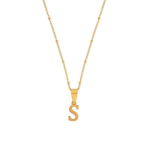 Necklace initial gold short