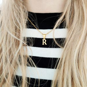 Necklace initial short