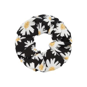 Scrunchie flowers black