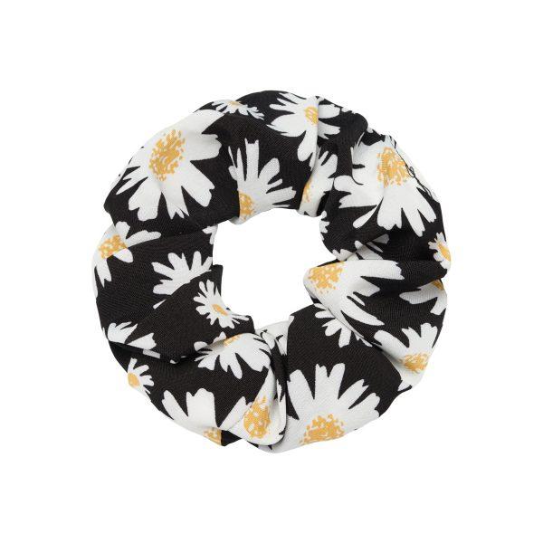 Scrunchie flowers black