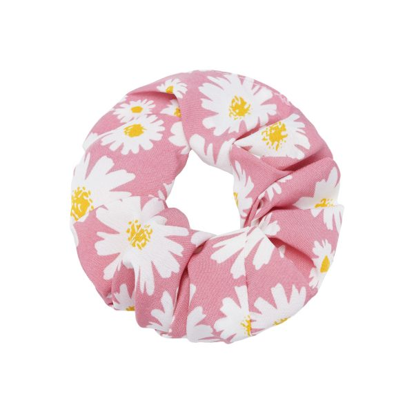 Scrunchie flowers pink