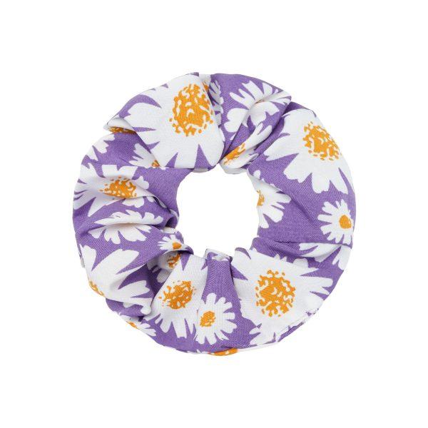 Scrunchie flowers purple