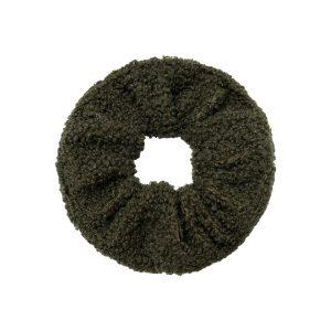 Scrunchie teddy green