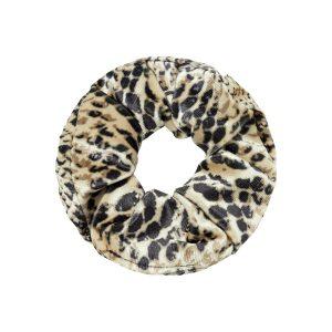 Scrunchie velvet snake beige
