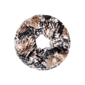 Scrunchie velvet snake brown