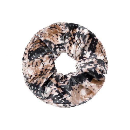 Scrunchie velvet snake brown