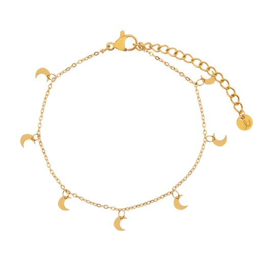 Bracelet a lot of moons gold