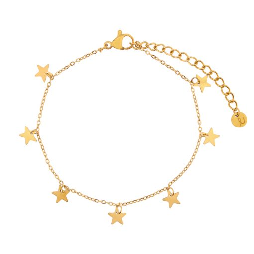 Bracelet a lot of stars gold
