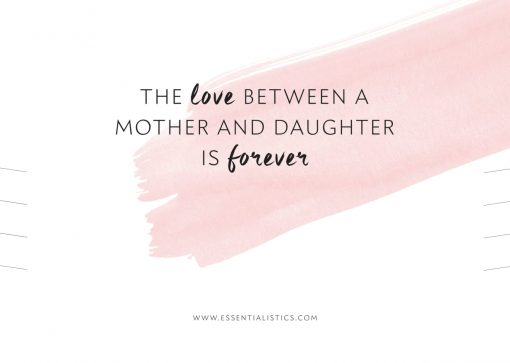 Necklace card - The love between a mother and daughter is forever