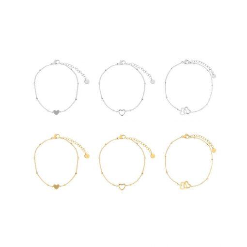 Set bracelets heart