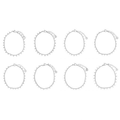 Set bracelets tiny silver
