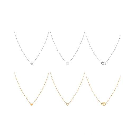 Set necklaces heart