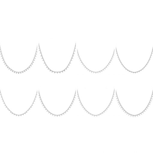 Set necklaces tiny silver