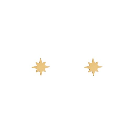 Stud earrings Northstar gold