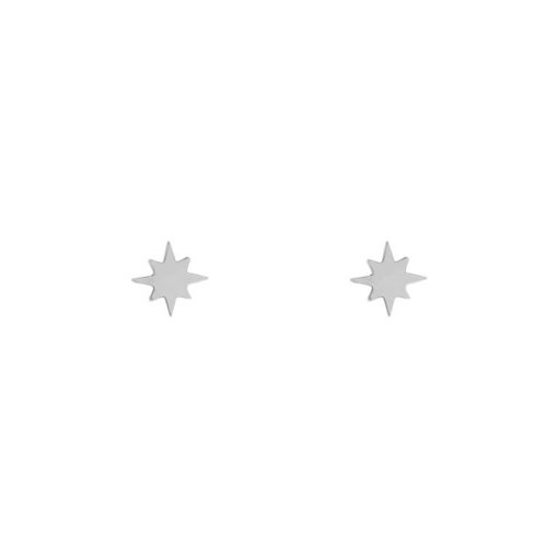 Stud earrings Northstar silver