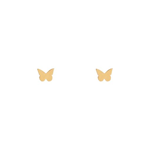 Stud earrings butterfly gold