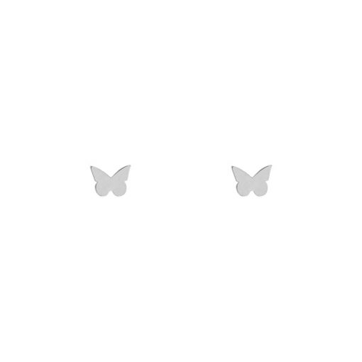Stud earrings butterfly silver