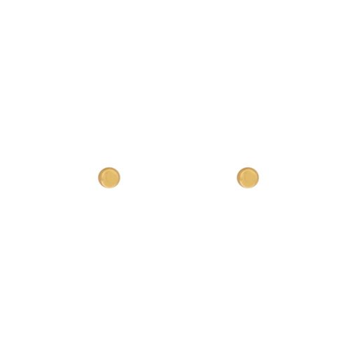 Stud earrings dot gold