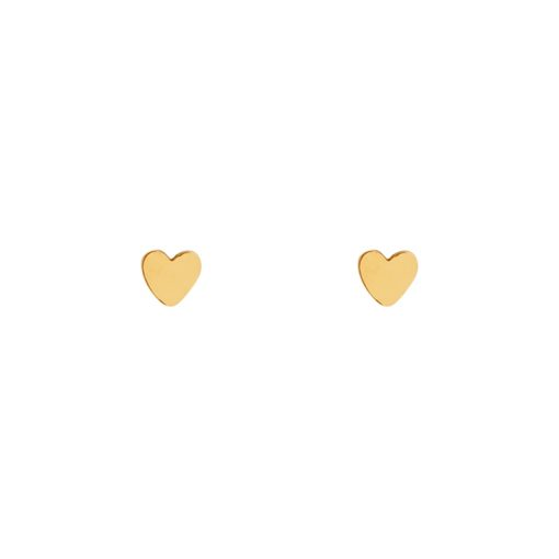 Stud earrings heart gold