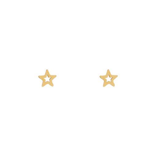 Stud earrings open star gold