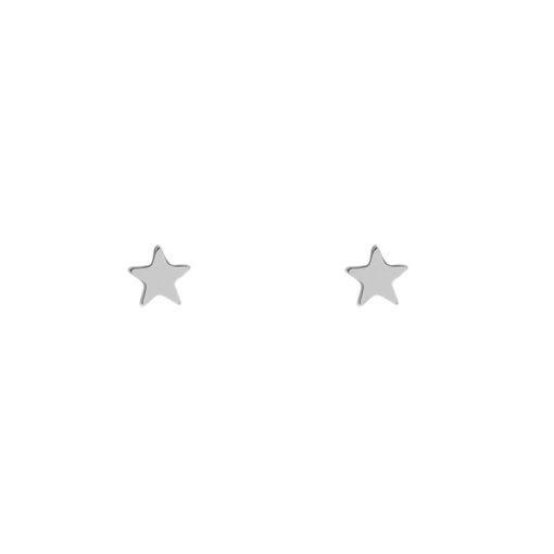 Stud earrings star silver