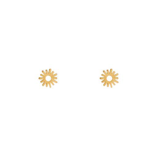 Stud earrings sun gold