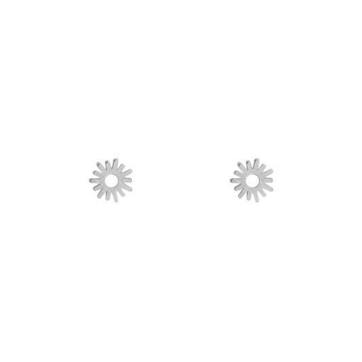 Stud earrings sun silver